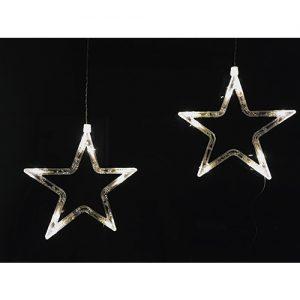 1 Stück Stern LED Weihnachtsaufhängung (19cm)
