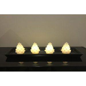 4 Stück kleine LED Weihnachtsbäume