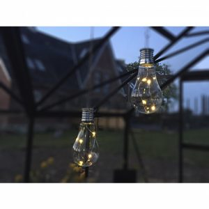 1 Stück LED Deko Solarzellen Glühbirne