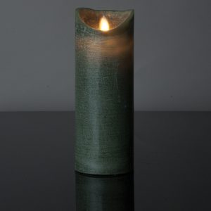 1 Stück LED Kerze dunkelgrün (22,5 cm)