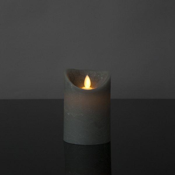 1 Stück LED Kerze grau (12,5 cm)