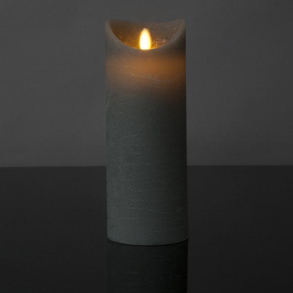 1 Stück LED Kerze grau (22,5 cm)