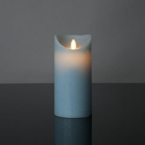 1 Stück LED Kerze mint (17,5 cm)
