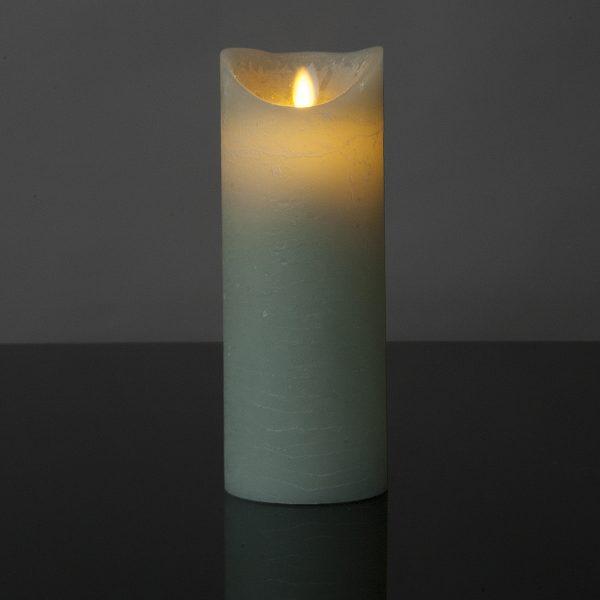 1 Stück LED Kerze light mint (22,5 cm)