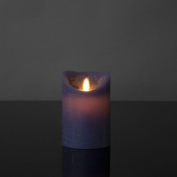 1 Stück LED Kerze lila (12,5 cm)