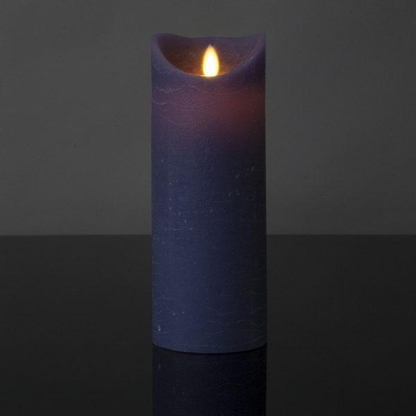 1 Stück LED Kerze lila (22,5 cm)