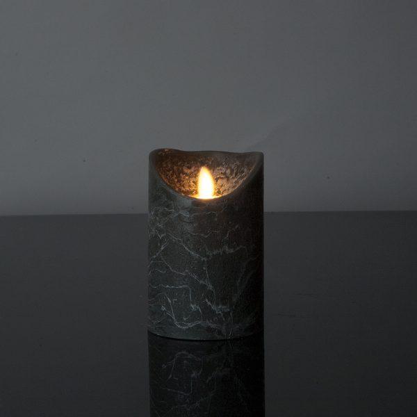 1 Stück LED Kerze anthrazitgrau (12,5 cm)
