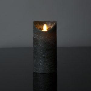 1 Stück LED Kerze anthrazitgrau (17,5 cm)