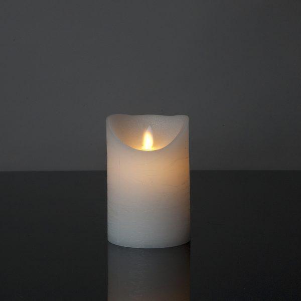 1 Stück LED Kerze weiß (12,5 cm)