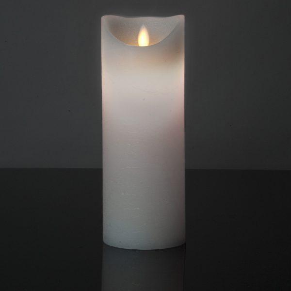 1 Stück LED Kerze weiß (22,5 cm)