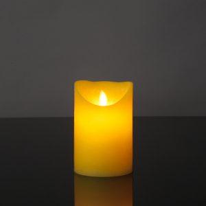 1 Stück LED Kerze gelb (12,5 cm)