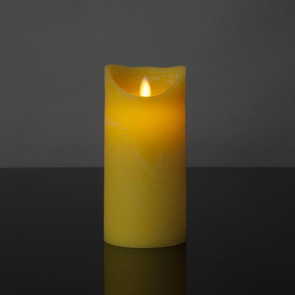 1 Stück LED Kerze gelb (17,5 cm)