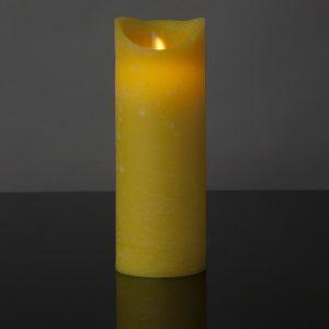 1 Stück LED Kerze gelb (22,5 cm)