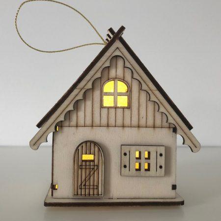 Holzhaus mit LED Licht (Haus)