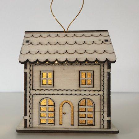 Holzhaus mit LED Licht (Villa)